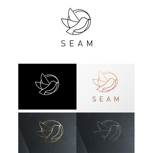 Sewing design with the title 'Elegant logo for fashion brand'