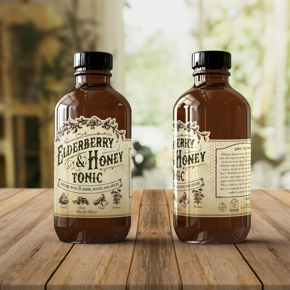 Herbs label with the title 'Label for Tonic'
