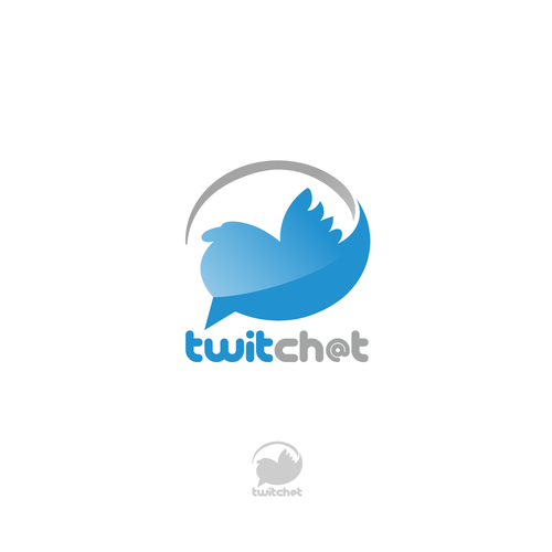 Bluebird logo with the title '[APP ICON] TwitChat's 2.0 needs a new logo! '