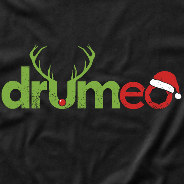 Positive t-shirt with the title 'Christmas Drummer T-Shirt'