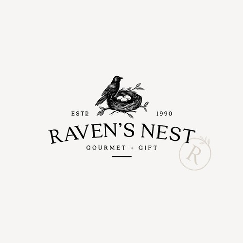 Gourmet design with the title 'Raven's Nest'