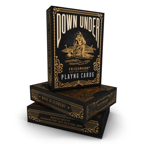 Board game packaging with the title 'Luxury Detailed Packaging For Poker Game'