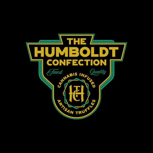 Truffle design with the title 'The Humboldt Confection logo.'