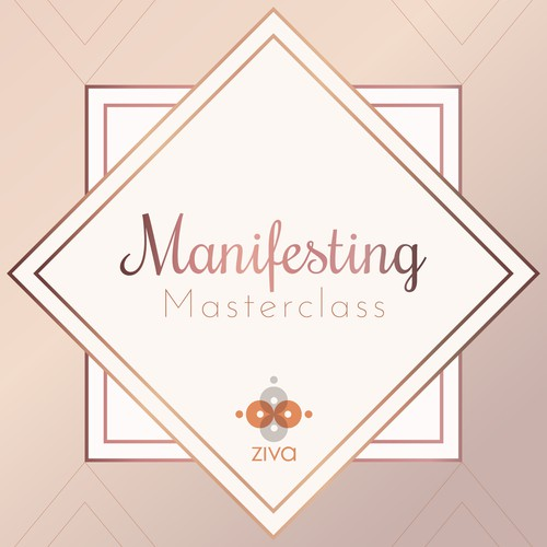 Art Deco illustration with the title 'Masterclass webinar promotional graphic'