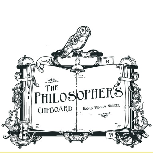 Owl design with the title 'The Philosopher's cupboard'