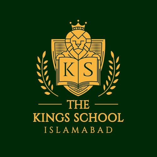 Academic logo with the title 'Lion Crest School Logo'