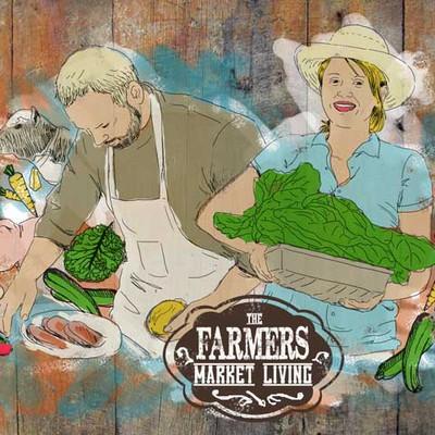 illustration for Farmers Market Living