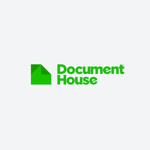 Folded design with the title 'Creative Logo for DocHouse'