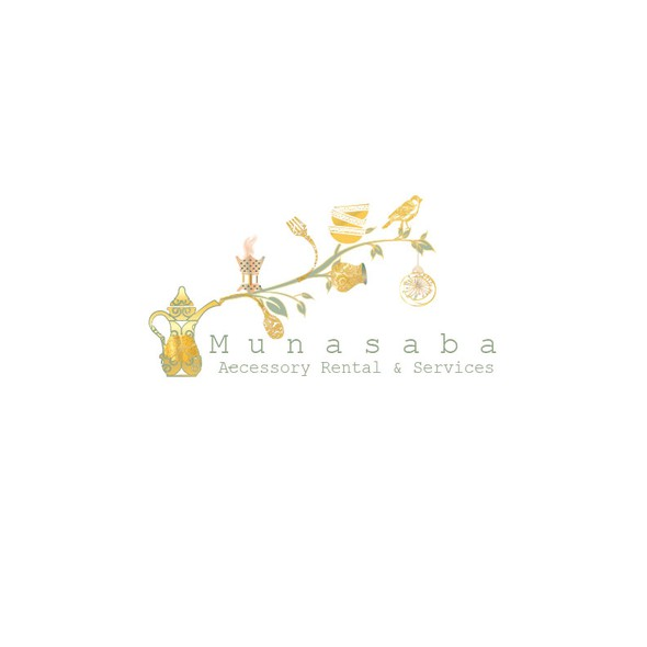 Teapot design with the title 'Catchy logo for wedding accessory rentals'