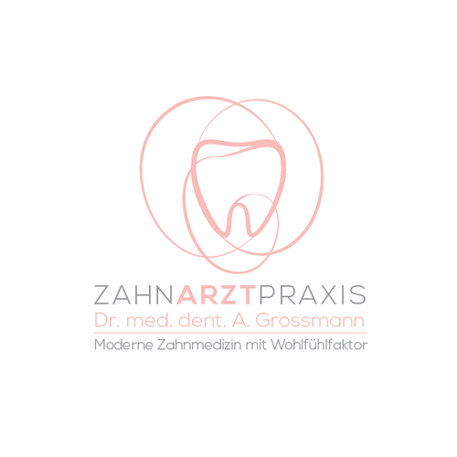 Orchid design with the title 'Zahnarztpraxis - concept logo'
