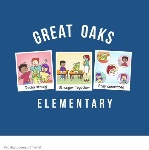 Education t-shirt with the title 'T-shirt Fun illustration for Great Oaks Elementary'