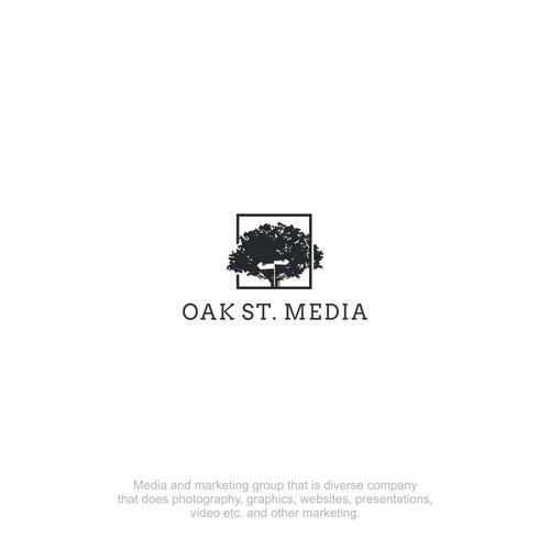 Neutral logo with the title 'Oak Street Media'