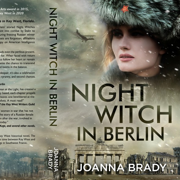Berlin design with the title 'Night Witch in Berlin - Historical Romance'