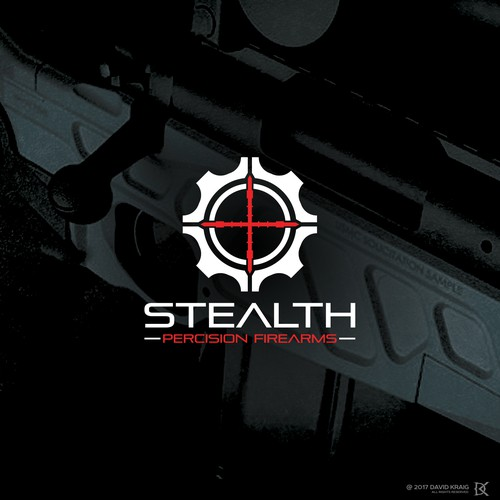 Bullseye logo with the title 'STEALTH Precision Firearms'