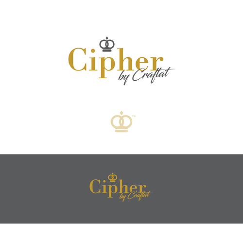 Original brand with the title 'Cipher by Craftat logo design concept'