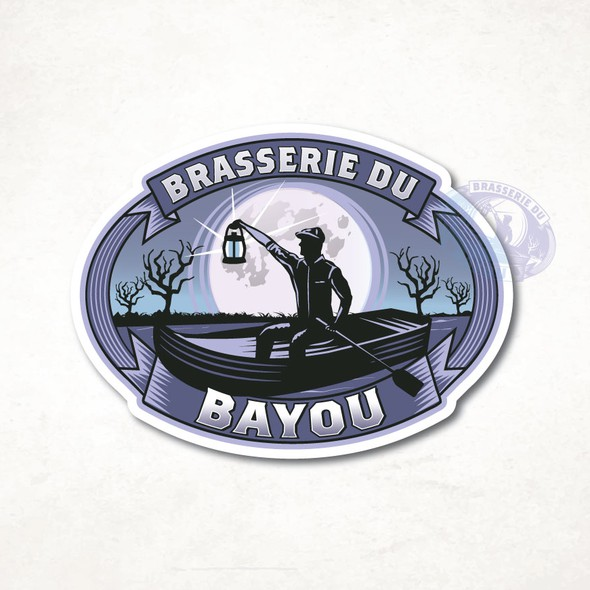 Spooky design with the title 'Brasserie Du Bayou'