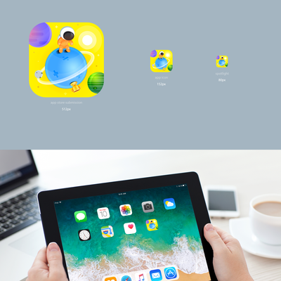 Education iPad App Icon for 7+ yr olds