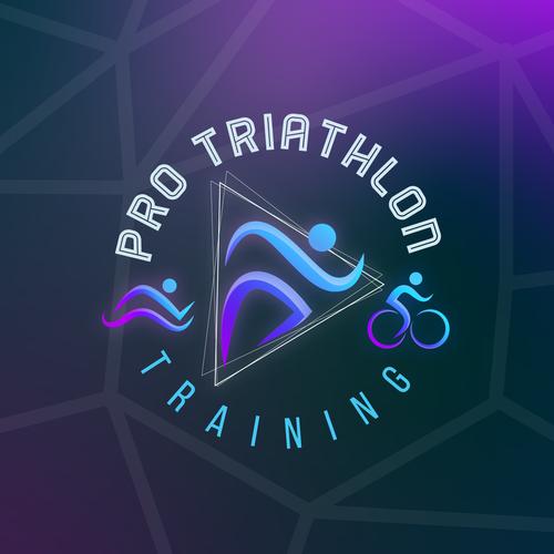 Swim design with the title 'Sports Logo for Pro Triathlon'