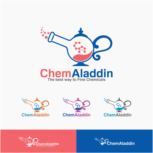 Aladdin logo with the title 'Magic Chemicals Logo'