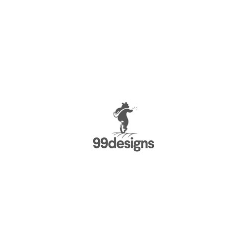 One-color design with the title '99 designs entry'