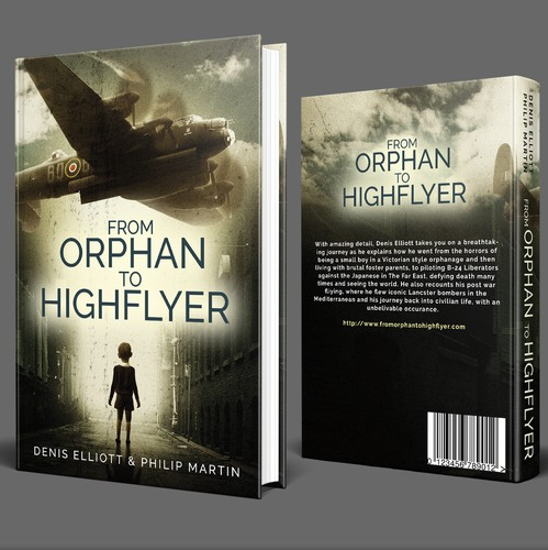 Children's book cover with the title 'From Oprhan to Highflyer Book Cover'