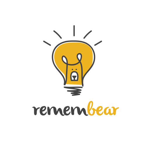 Teddy design with the title 'RememBear Logo'