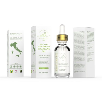 Product packaging (label and box) for Earth Apothecary