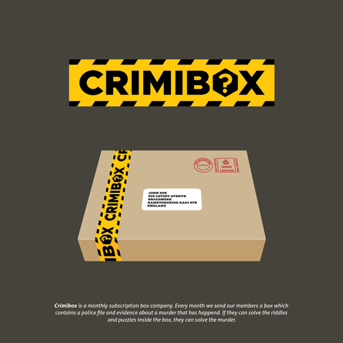 Police design with the title 'Crimibox! What more evidence do you need.'