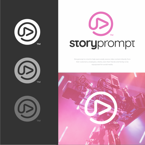 Speech bubble logo with the title 'storyprompt'