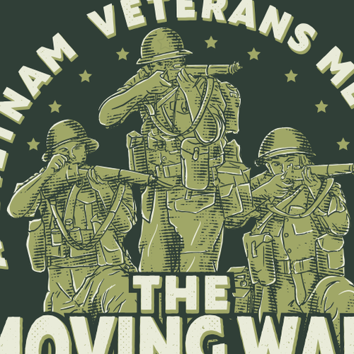 Troop logo with the title 'Logo for moving wall of Vietnam Veterans'