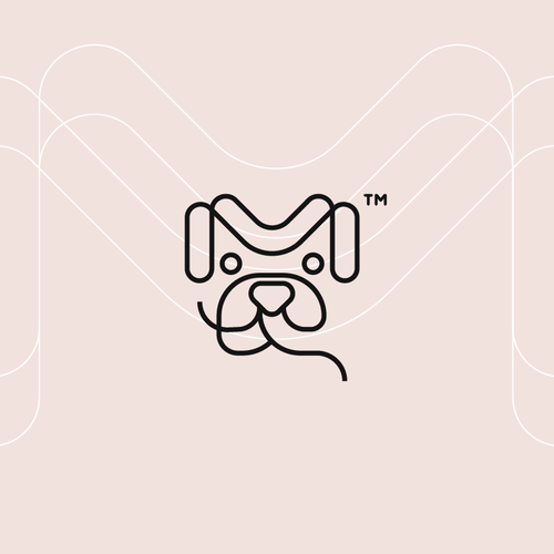 M design with the title 'M dog Logo'