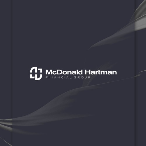 Professional logo with the title 'Negative space monogram for a modern investment planning company'