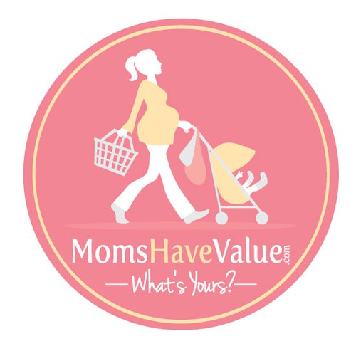 Mother's Day logo with the title 'logo for MomsHaveValue.com'