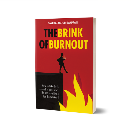 Fire book cover with the title 'The Brink Of Burnout Book Cover'
