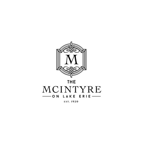 Event planning logo with the title 'Luxury logo concept for a 1920s mansion.'