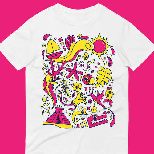 Hand-drawn t-shirt with the title 'Doodle for T-shirt '