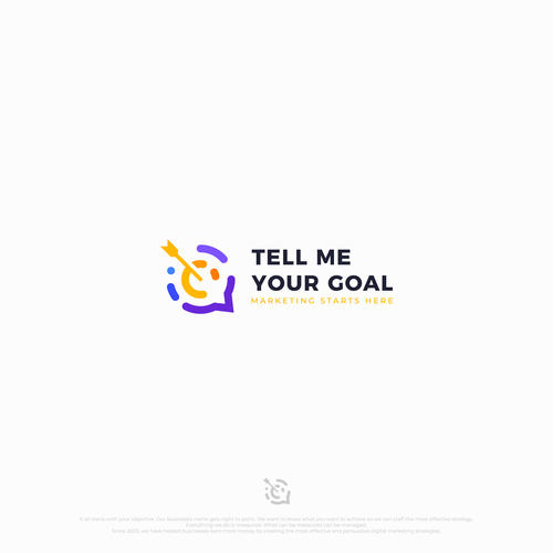 Target design with the title 'Tell Me Your Goal'