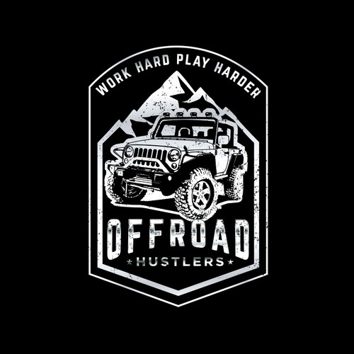 Off-road logo with the title 'Clothing/Sticker Brand for people that go offroading in Jeeps and work hard and play harder'