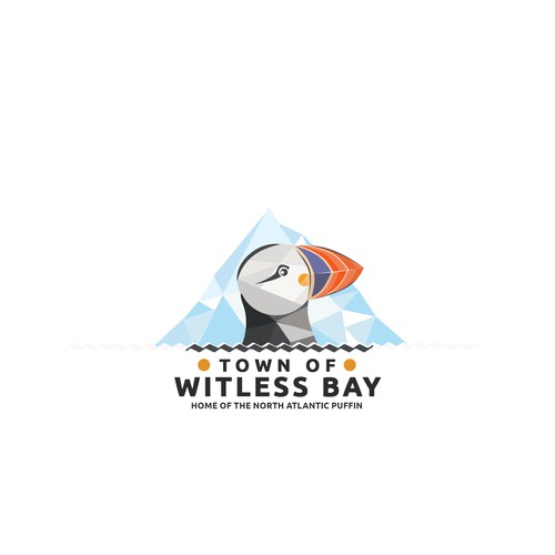 Town logo with the title 'logo design for the Town of Witless Bay'