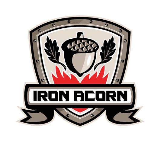Acorn logo with the title 'Iron Acorn'