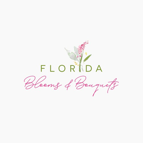 Pure logo with the title 'Modern Logodesign for Florida Blooms and Bouquets'