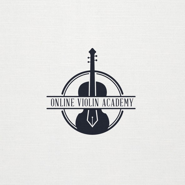 Violin logo with the title 'Violin Academy'