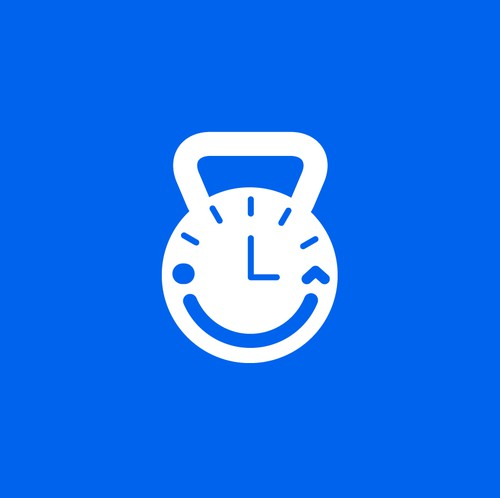 Clock logo with the title 'Happiest Hour'
