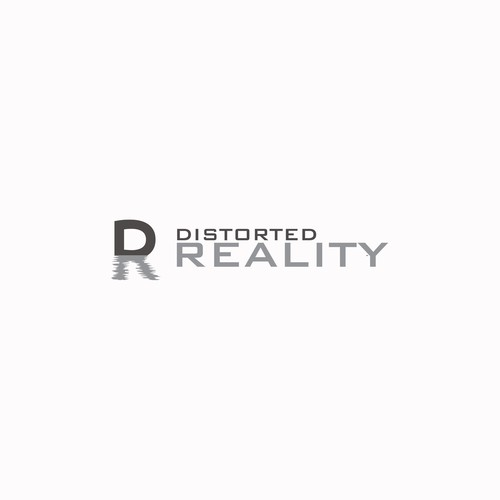 Augmented reality design with the title 'Distorted Reality: Augmented and virtual reality. Overlaying a whole new reality on the real world.'