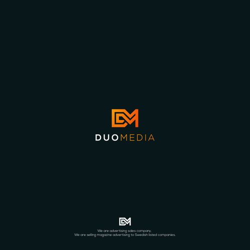 Advertising brand with the title 'Modern and geometric logo for advertising sales company'