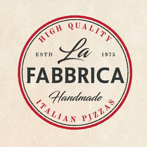 Mature design with the title 'La Fabbrica '
