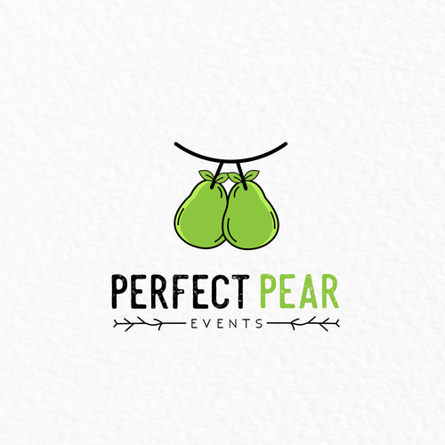 Pear logo with the title 'Perfect pear logo'