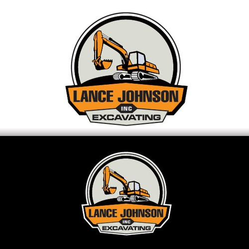 Excavator logo with the title 'Lance Johnson Inc. Excavation'
