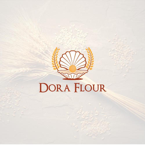 Flour logo with the title 'Dora Flour'