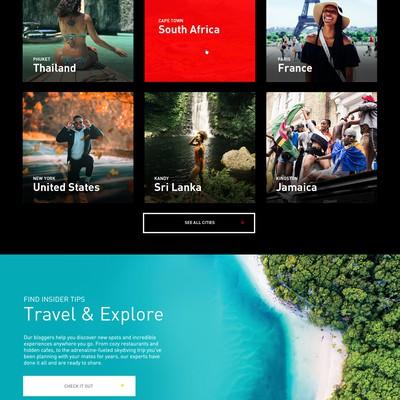Web design for travel start-up
